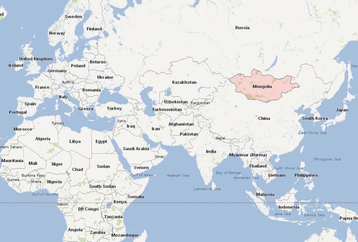 Landkarte Asien.Mongolei Karte Asien Karte Von Der Mongolei Landkarte